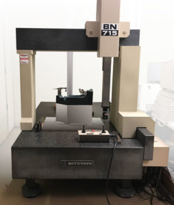 CMM - Coordinate measuring machine (photo is of CMM Mitutoyo BN715) to identify different types of measurements