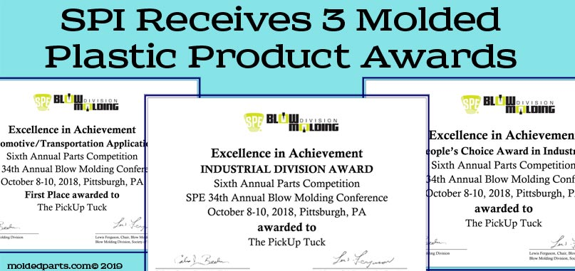SPI Receives 3 Molded Plastic Product Awards from SPE